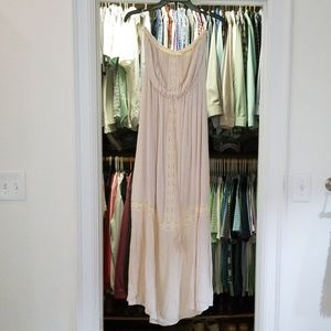 Strapless medium ivory maxi